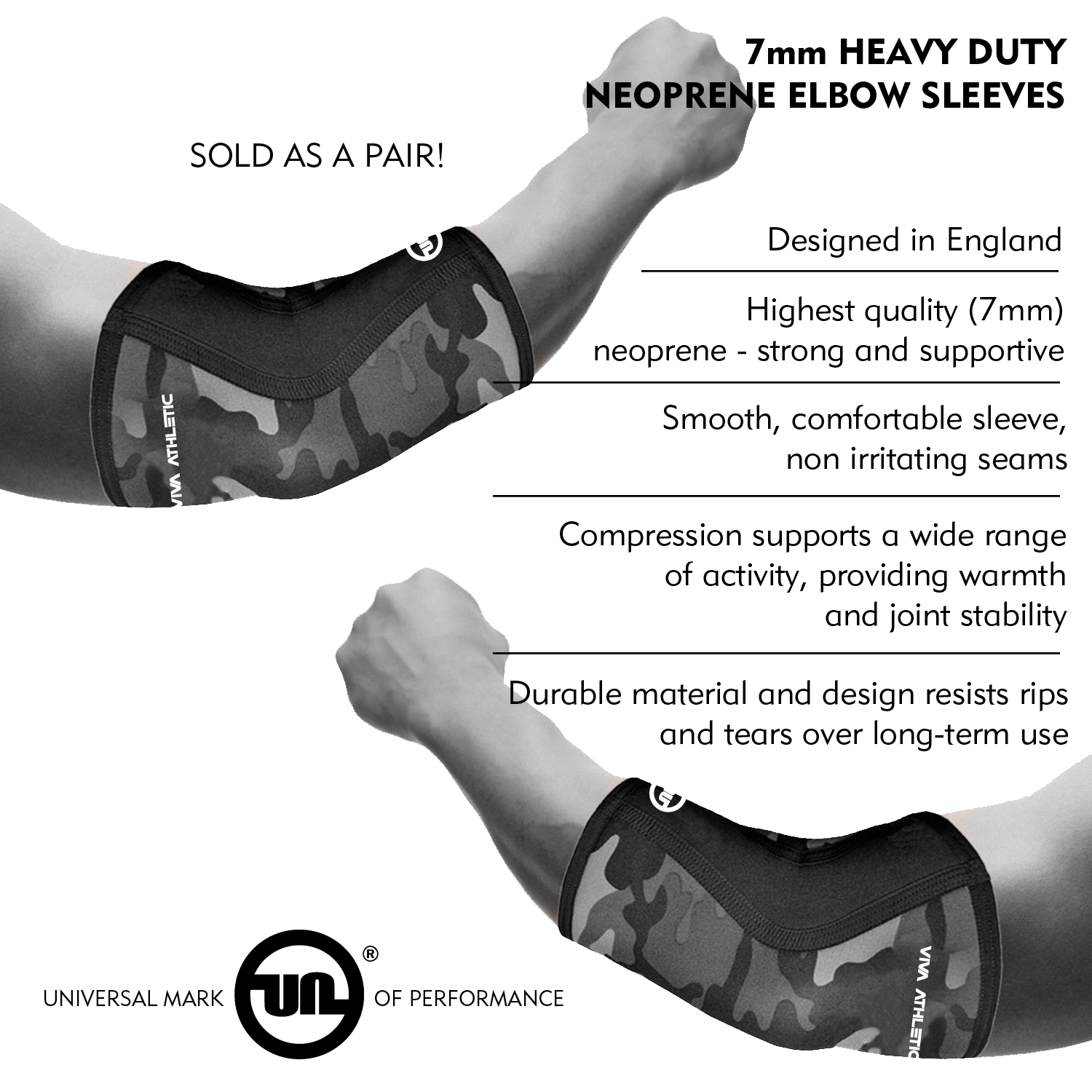 1fa722be5b Details about ELBOW SUPPORT (7MM) NEOPRENE FOREARM COMPRESSION SLEEVE BRACE  TENDONITIS CAMO