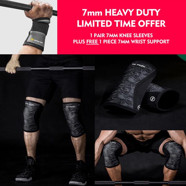 Details about Knee Sleeves Patellar 7mm Support Wrist Wraps Sbd Crossfit  Strongmen Men Women